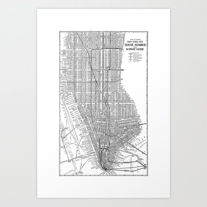 City Subway Map Art.New York City Subway Map New York City Art Manhattan New York Art Print By Davidtribby