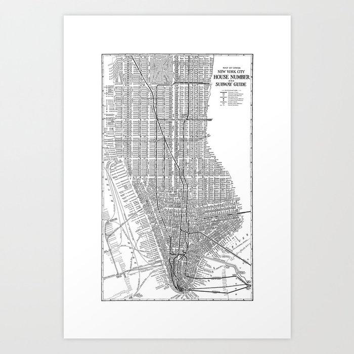 Manhattan Subway Map Nyc.New York City Subway Map New York City Art Manhattan New York Art Print By Davidtribby