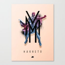 Heroes and Villains Series 2: Magneto Canvas Print