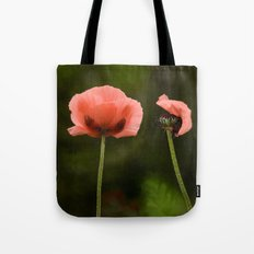 Couple Pink Oriental Poppies Tote Bag