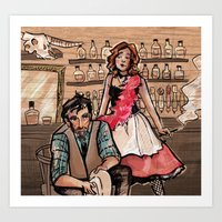 western Art Prints featuring Western by sacari