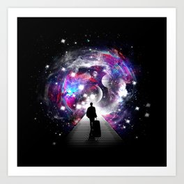 Space Traveler Art Print