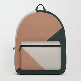 Green Pink White Abstract Geometric Art Backpack