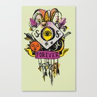 tatoo Canvas Prints featuring Forever. Tatoo by mayina