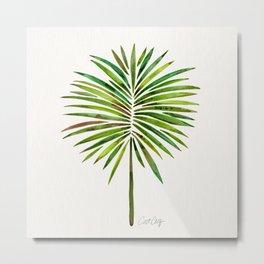 Tropical Fan Palm – Green Metal Print