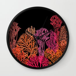 Coral Garden Wall Clock