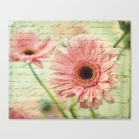 shabby chic Canvas Prints featuring Shabby Chic by whimsy canvas