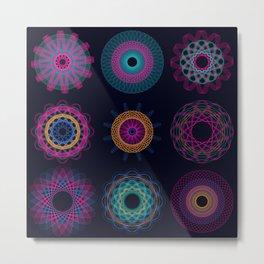 Funky Spirographs Metal Print