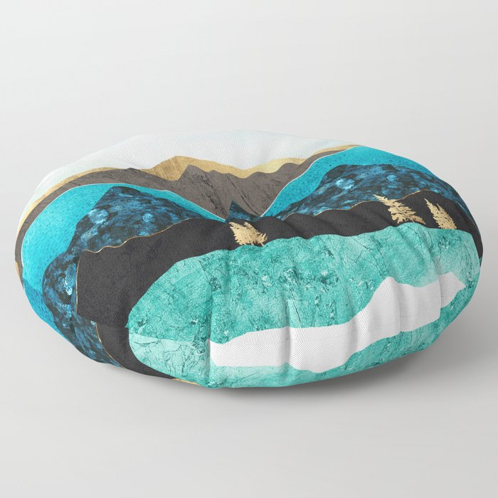 Teal Afternoon Floor Pillow