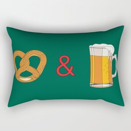 Bretzels (Pretzels) and Beer Rectangular Pillow