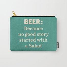 Beer illustration quote, vintage Pub sign, Restaurant, fine art, mancave, food, drink, private club Carry-All Pouch