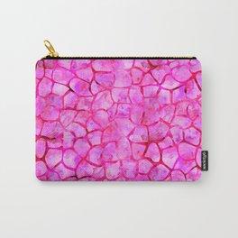 Pink Giraffe Print Carry-All Pouch