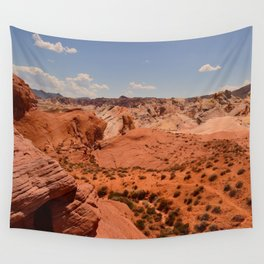 Red Valley II Wall Tapestry