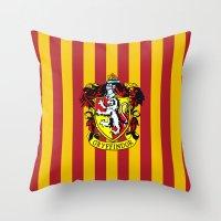 gryffindor Throw Pillows featuring Gryffindor - Hogwarts  by Kesen