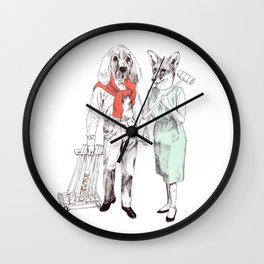 Bestial cricket couple Wall Clock