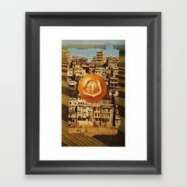 Orange You Glad I Didn't Say Poverty? Framed Art Print