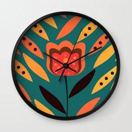 Flower in petal rain Wall Clock