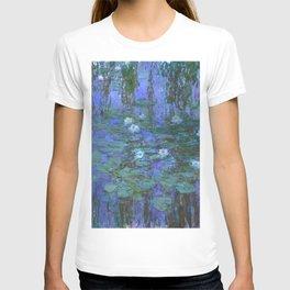 """Claude Monet """"Water Lilies"""" (7) T-shirt"""
