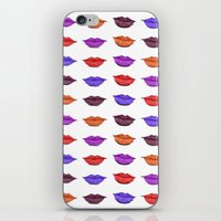 lipstick iPhone & iPod Skins featuring Lipstick by Young Clerks