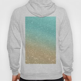 Sparkling Gold Aqua Teal Glitter Glam #1 #shiny #decor #society6 Hoody