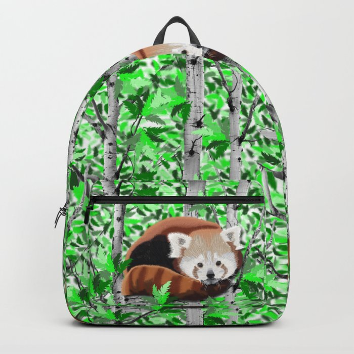 Red panda's in tree's Backpack