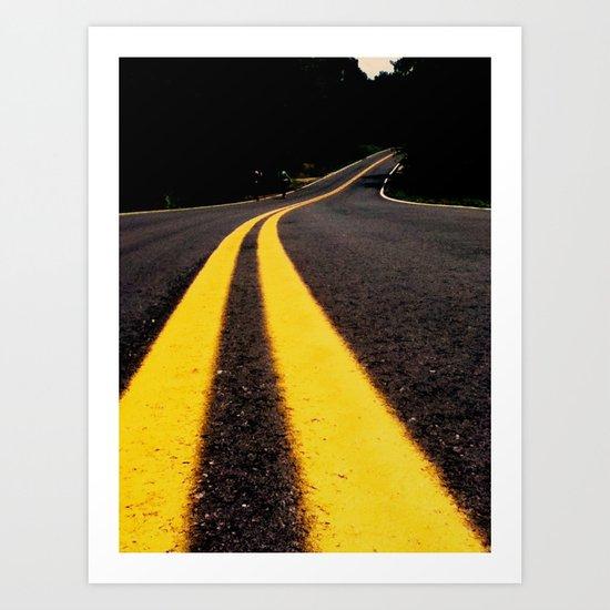 the yellow stripes Art Print