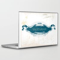 lesbian Laptop & iPad Skins featuring VAGITARIAN LESBIAN by SLANTEDmind.com