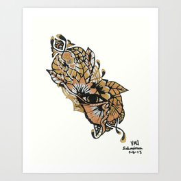 Henna Design 15 Art Print