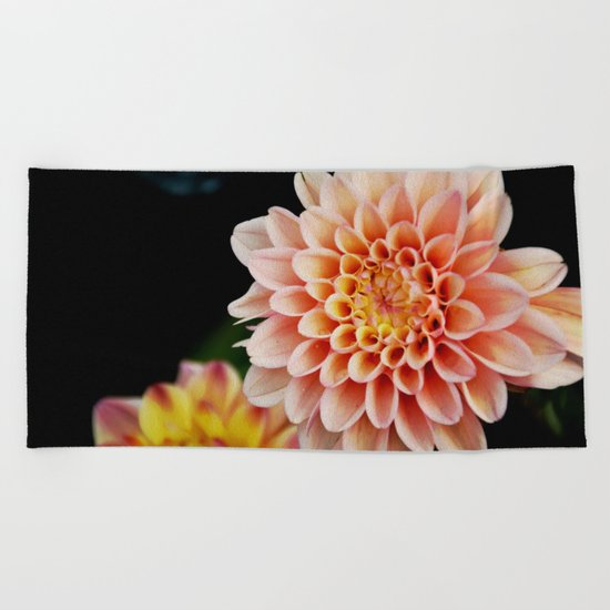 Light Orange Dahlia Beach Towel