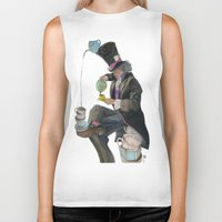 mad hatter Biker Tanks featuring Mad Hatter by Oliver Dominguez