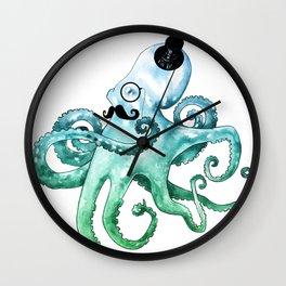 Monocle Octopus Wall Clock