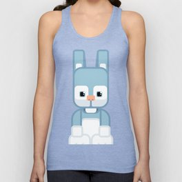 Blue Bunny Rabbit - Super Cute Animals Unisex Tank Top