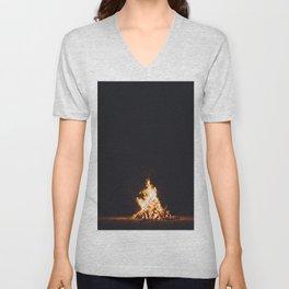 BONFIRE - FIRE - HOT - PHOTOGRAPHY Unisex V-Neck