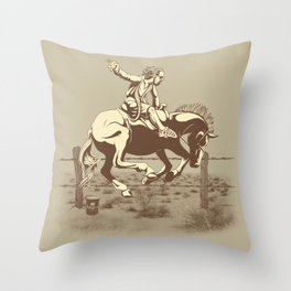 Dude Ranch Throw Pillow