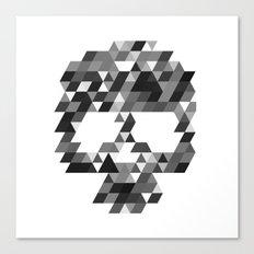 Skull bw w Canvas Print