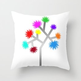 Joshua Tree Pom Poms by CREYES Throw Pillow