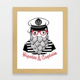 Captain & Hipster Framed Art Print
