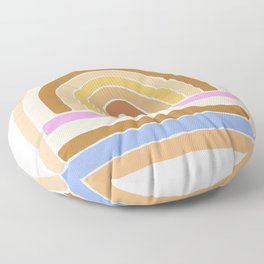 rainbow : tan Floor Pillow
