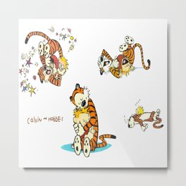 calvin and hobbes moment Metal Print
