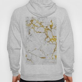 Gold on marble Hoody