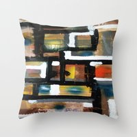 dancing Throw Pillows featuring DANCING by JANUARY FROST