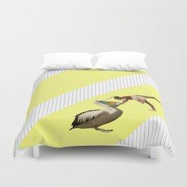 inside a pelican's beak ! Duvet Cover