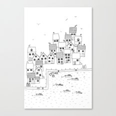 Harbour sketch Canvas Print
