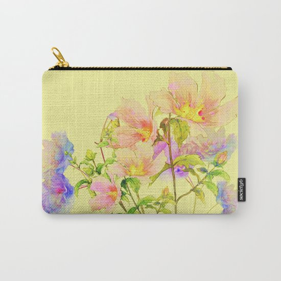 soft pastel floral Carry-All Pouch
