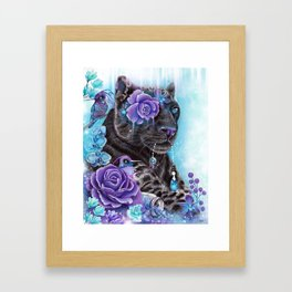 Sapphire Galaxy Jaguar by Sheena Pike  Framed Art Print