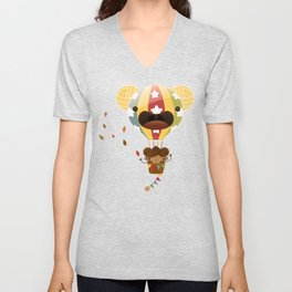 Chestnut Girl Balloon!!! Unisex V-Neck