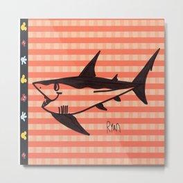Shark Flag Metal Print