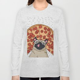 Funny Pug Pizza Long Sleeve T-shirt