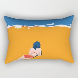 Tide on the Beach Rectangular Pillow