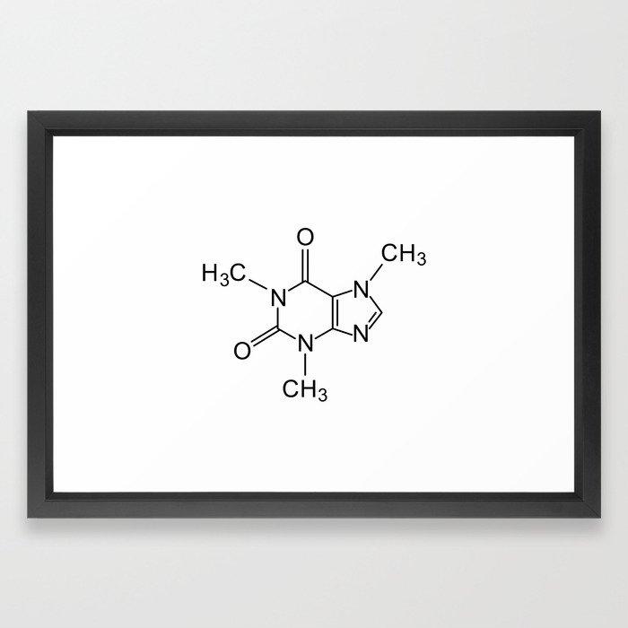 Caffeine Chemical Formula Framed Art Print By Tony4urban Society6